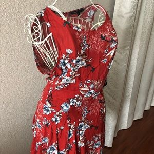 A red and white summer dress